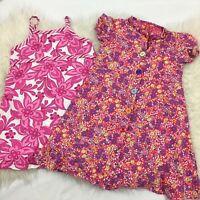 Hanna Andersson LOT of 2 girls Dresses pink floral Size 100 4T