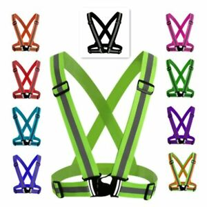 Reflective Harness for Night Cyclin,adjustable Safe Vest Reflective Elastic Band