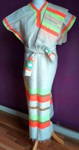 Ethiopian /Eritrean Hand woven & embroidered 100% Cotton dress Ethiopia 3 Pieces