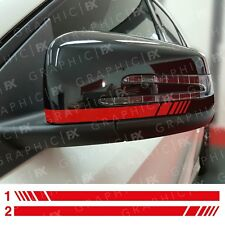 x2 Mercedes Benz AMG Black Edition Brabus Wing Mirror Decals Stickers