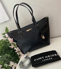 Kurt Geiger Black Essex Shopper Tote Bag With Detachable Crossbody Strap
