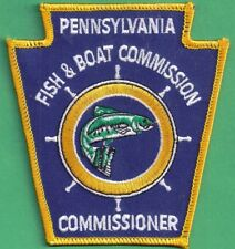 Pa Pennsylvania Fish Game Commission NEW Obsolete Commissioner Uniform Patch