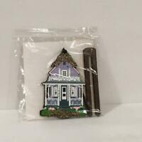 Shelia's MARO14 BUTTERFLY COTTAGE Wood Replica Ornament, NEW