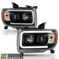 2015-2019 Gmc Canyon Black Led Tube Upgrade Projector Headlights Pair Left+Right (Fits: Gmc)