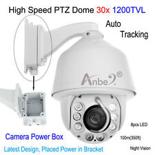 ANBER 1200TVL Auto Tracking High Speed 30x Zoom PTZ DOME Camera CCTV+ POWER BOX