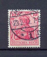 DR 86 I c Germania 10 Pfg. margenta gestempelt geprüft (dt298)
