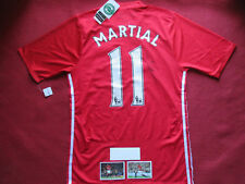 MANCHESTER UNITED ANTHONY MARTIAL SIGNED HOME 2016/17 SHIRT- BNWT - PHOTO PROOF