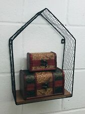 Industrial Style Wire Shelf   Ornament Book Holder