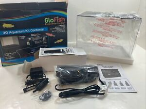 GloFish Aquarium Kit Fish 3 Gallon Tank LED Light And Filter