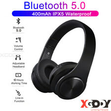 Wireless Bluetooth 5.0 Headset Gaming Stereo Headphone Rechargeable for PC Phone