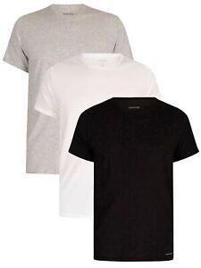 Calvin Klein Men's 3 Pack Lounge Crew T-Shirts, Multicoloured