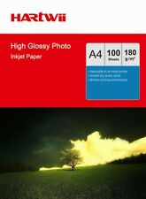 Hartwii 100 Sheets A4 180Gsm High Glossy Inkjet Paper for Photo Paper Printing