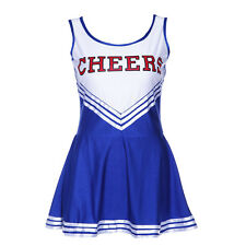 Tank Dress Blue fancy dress cheerleader pom pom girl party girl XS 14-16 f G0P8