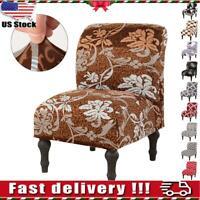 Slipper Chair Slipcover Stretch Armless Chair Cover Elastic Spandex Home Decor