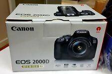 Canon EOS 2000D / Rebel T7 DSLR Camera with 18-55mm Lens + Bonus Bundle