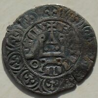 Maille Blanche Charles IV 1.66g France Medieval Silver Coin, Hammered 1322 -1328