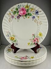 "6 Royal Doulton English Fine Bone China ""Arcadia"" Dinner Plates - Smooth Edge"