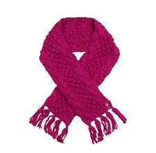 Ted Baker Girls Scarf Dark Pink Knitted Chunky Designer Size 11-13 Years