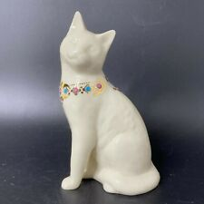 Vintage 1990's Lenox China Jewels Collection Sitting Cat Porcelain Figurine