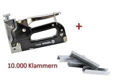 11 tlg. Set Tacker + 10.000 Klammern Handtacker Hefter Nägel Nagler Klammergerät