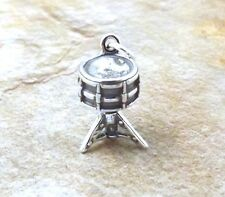 Sterling Silver SNARE DRUM Charm - 3316