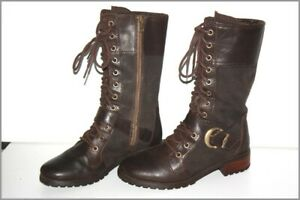 TIMBERLAND Boots à Lacets Femme Cuir Marron T 4.5 UK / 6.5 US / 37.5 FR  TBE