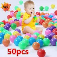 50PCS Ocean Ball Secure Plastic Colorful Balls Kid Baby Pit Swim Pool Toy Gift