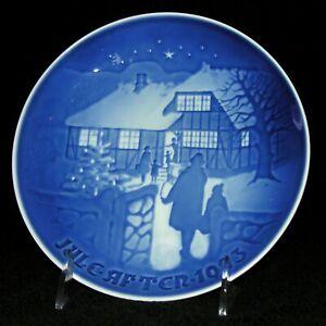 Bing Grondahl B G 1973 Christmas Vintage Collector Plate Country Christmas