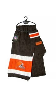 Cleveland Browns NFL Licensed Scarf and Glove Set with Free Shipping