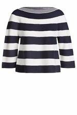 Gestreifte taillenlange Damen-Pullover & -Strickware mit 36 Größe