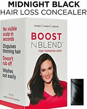 BOOSTnBLEND Black Hair Loss Scalp Concealer for Women with thinning hair. Cover