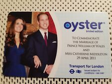 2011 ROYAL WEDDING -WILLIAM & KATE TFL OYSTER CARD - LIMITED EDITION-BRAND NEW