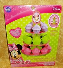Minnie Mouse Cupcake/Treat Stand, Cardboard,Wilton,1512-6363,Pink/Green