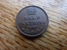 1843 Half Farthing Queen Victoria Young Head High Grade Coin
