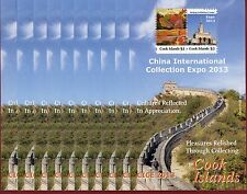 Cook Islands #1474-75,S/S X10,China Int'l Collection Expo,Great Wall,SCV $135.00