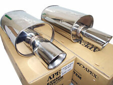 (2x) Apexi WS2 Universal Exhaust Mufflers (N/A 60.5mm Inlet 105mm Tip)