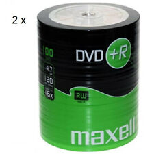 MAXELL DVD+R Blank Recordable Digital Disc DVDR 4.7GB 16x SPEED 120mins 100Pk x2