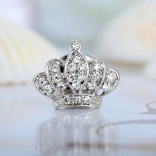princess queen crown rhinestone wedding birthday brooch pin badge gift silver uk