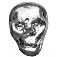 1/2 oz .999 Pure Fine Solid Silver Bullion ~ Hand Poured ~  3-D SKULL ~