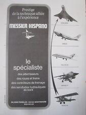 1/1974 PUB MESSIER HISPANO CONCORDE POTEZ MIRAGE F1 FALCON 20 AIRBUS FRENCH AD