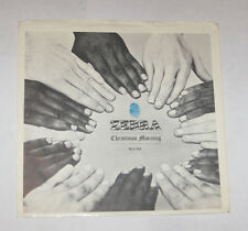 Zebra Christmas Morning PICTURE SLEEVE ONLY NO 45 DISC Blue Thumb 109