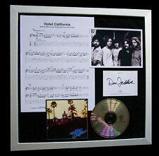 THE EAGLES+SIGNED+FRAMED+HOTEL CALIFORNIA=100% GENUINE+EXPRESS GLOBAL SHIPPING