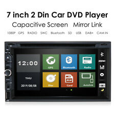7 inch Double 2 Din Car DVD CD Player Bluetooth Radio Stereo Universal SWC DAB+