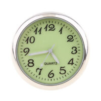 Luminous Car Dashboard Clock Table Classic Small Round Analog Quartz Clock