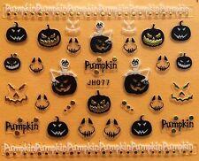 Nail Art 3D Decal Stickers Halloween Pumpkin Skeketon Jack-o-lantern JH077