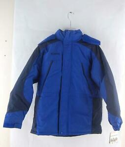 Columbia Unisex Junior 18/20 Parka Waterproof Winter Ski Snowboard Jacket Blue