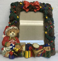 "CWC Import Christmas Themed & Decorated Picture Frame Teddy Bear 5""x 7"" Photo"