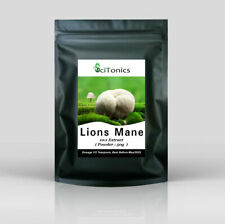 Lions Mane Mushroom Extract 50g Powder ( 10:1 equivalent to 500g ), Memory