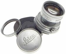 JUST SERVICED LEICA M SUMMICRON 1:2 f=5cm COLLAPSILE CLEAN BAYONET MOUNT LENS