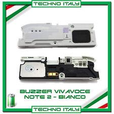 BUZZER VIVAVOCE ALTOPARLANTE PER SAMSUNG NOTE 2 N7100 CASSA AUDIO - BIANCO